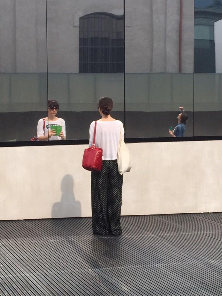 Camilla alla Fondazione Prada